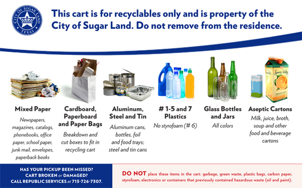 Link to examples of recyclable materials document