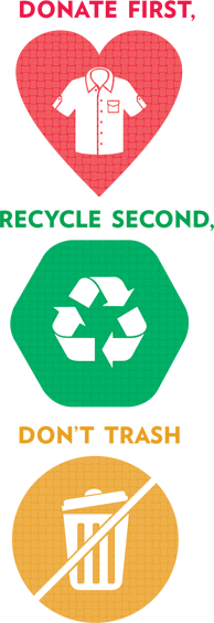 Logo - Donate First. Recycle Second. Don't Trash.