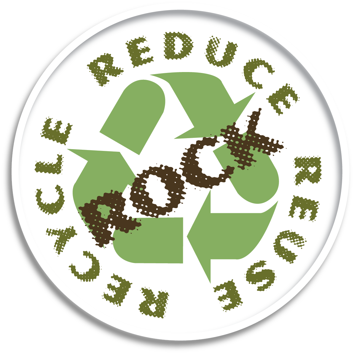 Earth Day Logo: Recycle, Reduce, Reuse, Rock