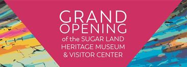 Banner - Grand Opening of Heritage Museum & Visitor Center