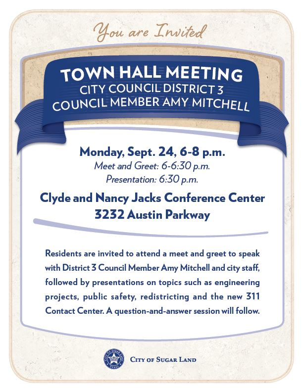 Flyer - District 3 Town Hall Meeting