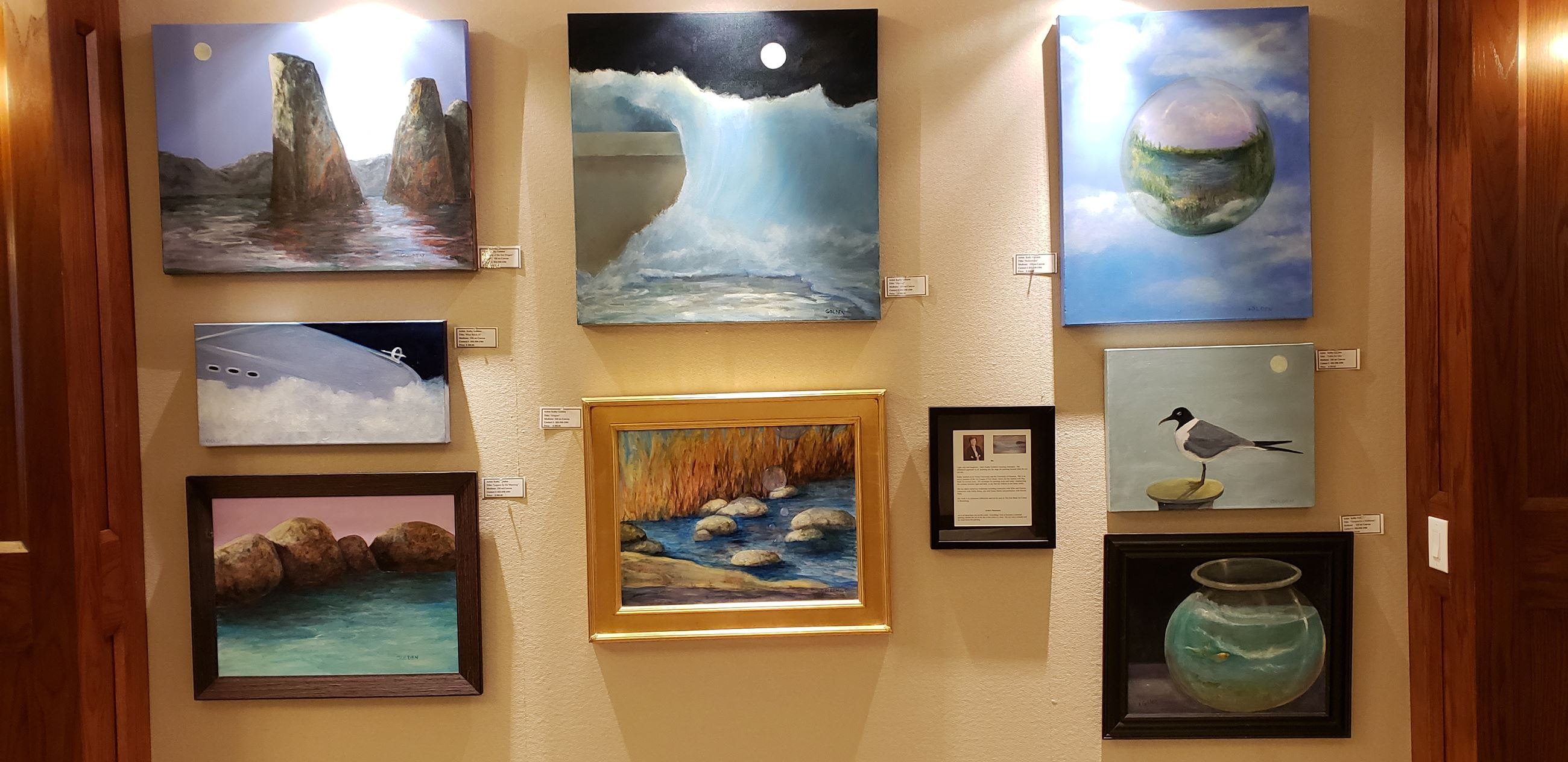 Art Display Jan-Feb 2019 Kathy Golden