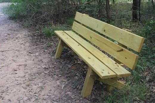 Scout-made bench at Cullinan Park