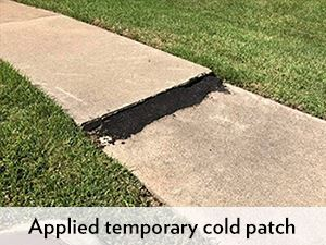 Image - Temporary Cold Patch on a Sidewalk