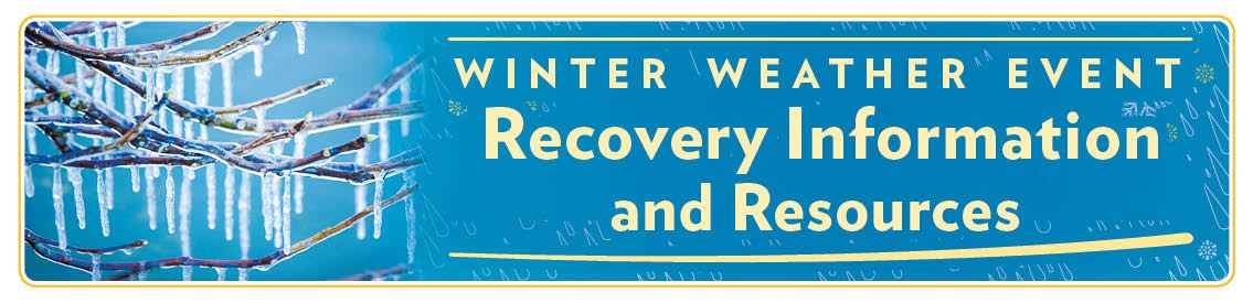 Winter Weather Event - Recovery information and Resources