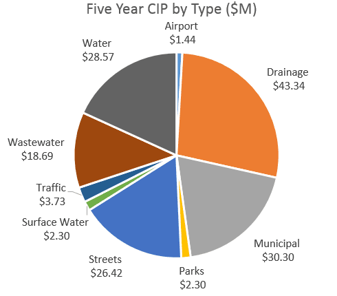 Five Year CIP by Type