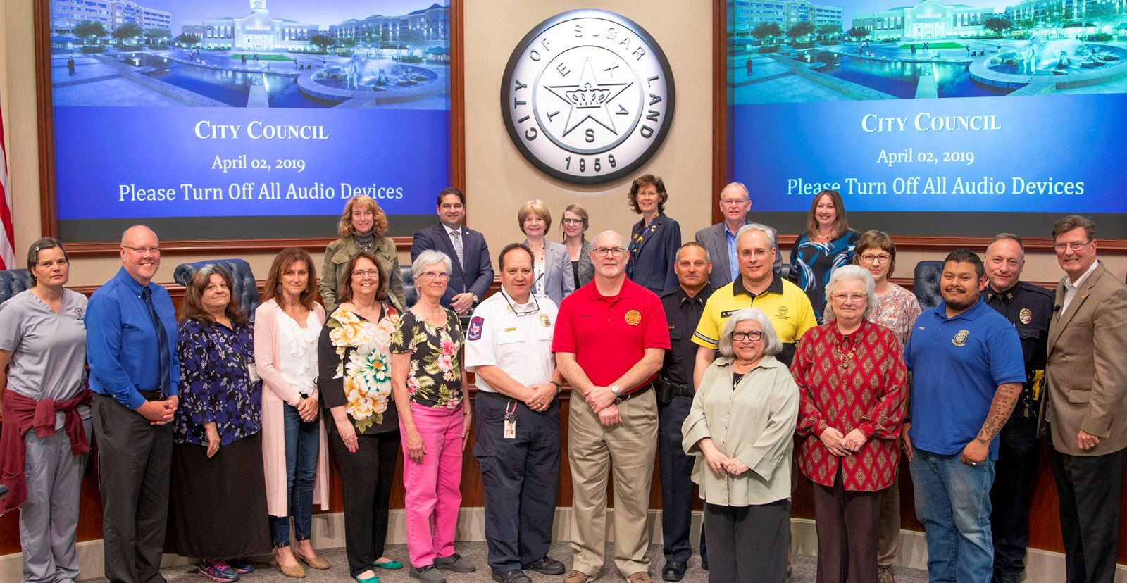 Sugar Land recognizes Volunteers of the Year.