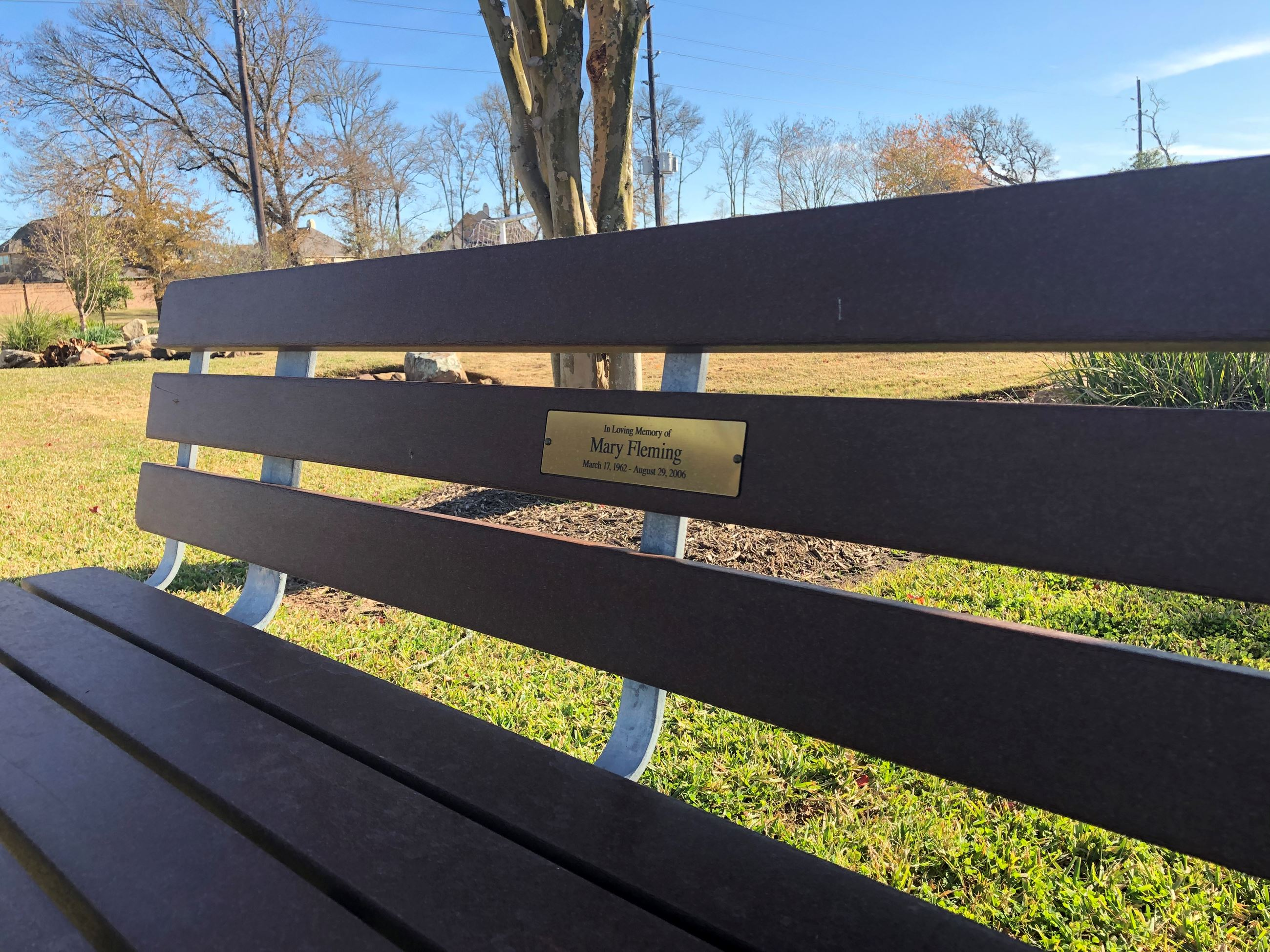 Sugar Land Memorial Bench