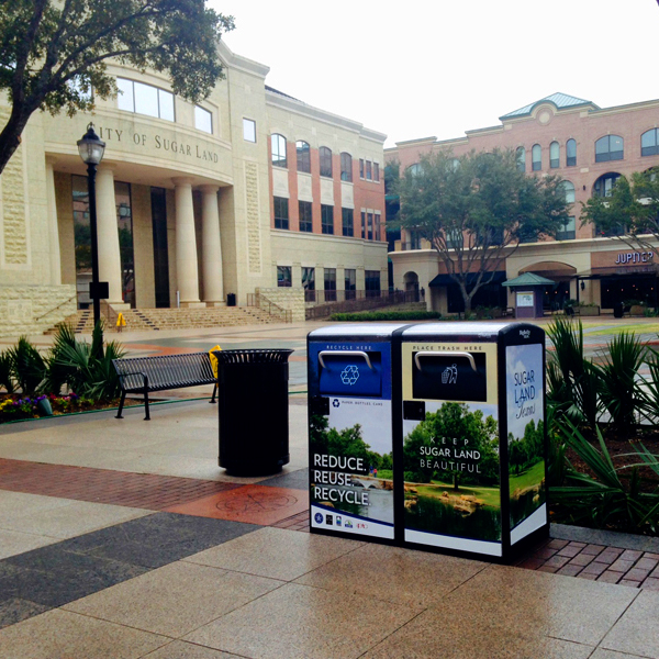 Sugar Land Keeps Clean, Green with Solar-Powered Waste, Recycling Stations