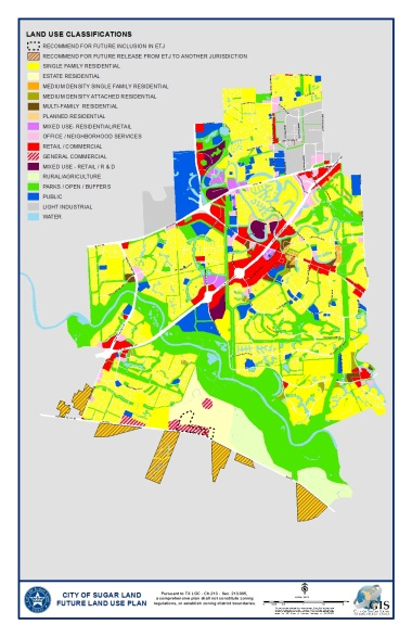 Future land use plan map